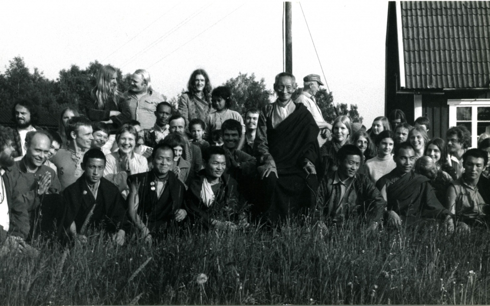 055.2 Kalu Rinpoche på Karma Ling 1974